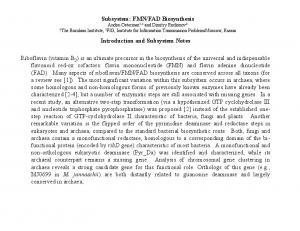 Introduction and Subsystem Notes