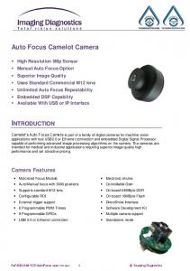 INTRODUCTION. Auto Focus Camelot Camera. Camera Features