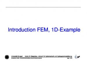 Introduction FEM, 1D-Example