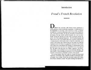 Introduction. Freud's French Revolution