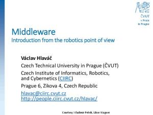 Introduction from the robotics point of view