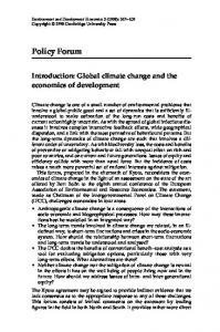 Introduction: Global climate change and the economics of development