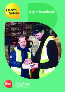 Introduction. Health and Safety Reps Handbook Introduction