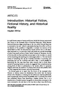 Introduction: Historical Fiction, Fictional History, and Historical Reality