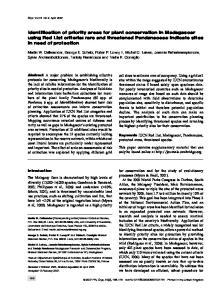 Introduction. Keywords IUCN Red List, Madagascar, Pandanaceae, protected areas, threatened species