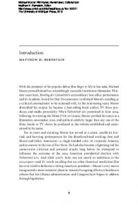 Introduction. matthew h. bernstein
