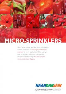 INTRODUCTION. Micro-sprinkler irrigation is a major pressurized microirrigation