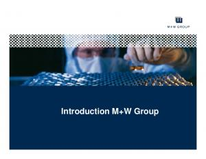 Introduction M+W Group