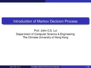 Introduction of Markov Decision Process