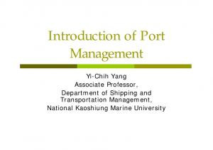 Introduction of Port Management