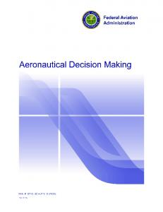 Introduction. Perceive, Process, Perform. Aeronautical Decision Making