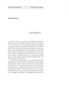Introduction. Peter Berkowitz