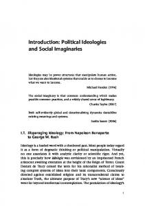Introduction: Political Ideologies and Social Imaginaries