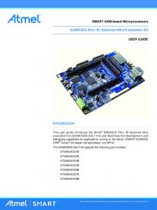 Introduction. SAMA5D2 (Rev. B) Xplained Ultra Evaluation Kit. SMART ARM-based Microprocessors USER GUIDE