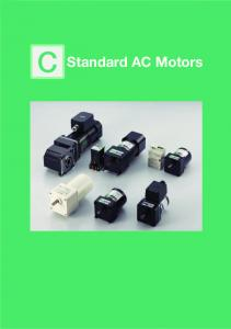 Introduction. Standard AC Motors