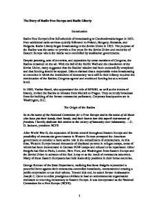 Introduction. The Origin of the Radios