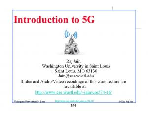 Introduction to 5G Washington University in St