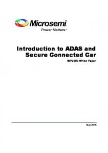 Introduction to ADAS and Secure Connected Car. WP0199 White Paper
