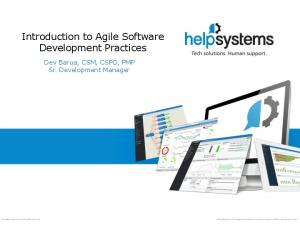 Introduction to Agile Software Development Practices