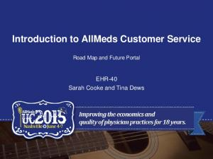 Introduction to AllMeds Customer Service