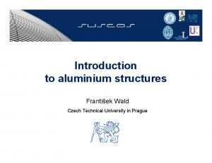 Introduction to aluminium structures