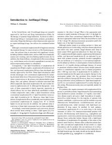Introduction to Antifungal Drugs