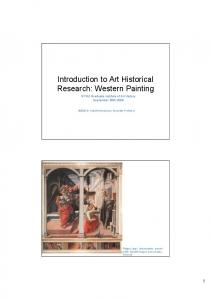 Introduction to Art Historical Research: Western Painting