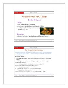 Introduction to ASIC Design