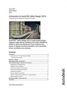Introduction to AutoCAD Utility Design 2012: Integrating the Network Design Process
