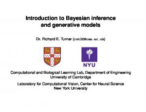 Introduction to Bayesian inference and generative models