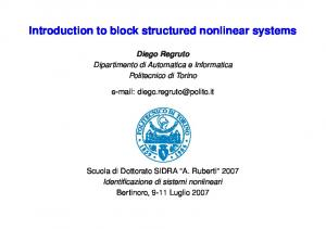 Introduction to block structured nonlinear systems