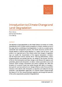 Introduction to Climate Change and Land Degradation