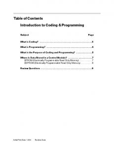 Introduction to Coding & Programming