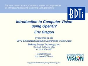Introduction to Computer Vision using OpenCV