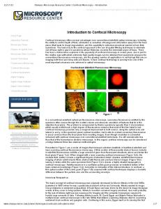 Introduction to Confocal Microscopy