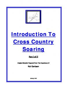 Introduction To Cross Country Soaring