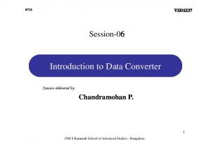 Introduction to Data Converter