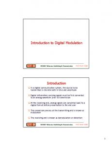 Introduction to Digital Modulation. Introduction