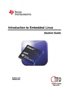 Introduction to Embedded Linux