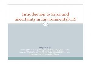 Introduction to Error and uncertainty in Environmental GIS