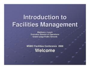 Introduction to Facilities Management