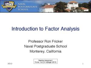 Introduction to Factor Analysis!