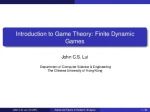 Introduction to Game Theory: Finite Dynamic Games