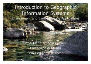 Introduction to Geographic Information Systems Environment and Land Planning Applications