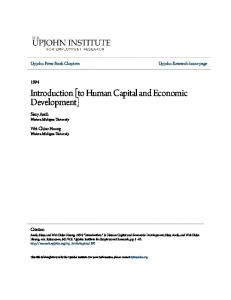 Introduction [to Human Capital and Economic Development]