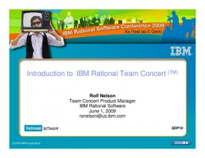 Introduction to IBM Rational Team Concert (TM)