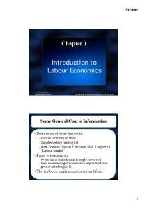Introduction to Labour Economics