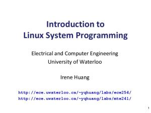 Introduction to Linux System Programming