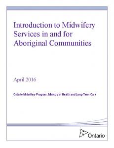 Introduction to Midwifery Services in and for Aboriginal Communities