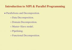 Introduction to MPI & Parallel Programming